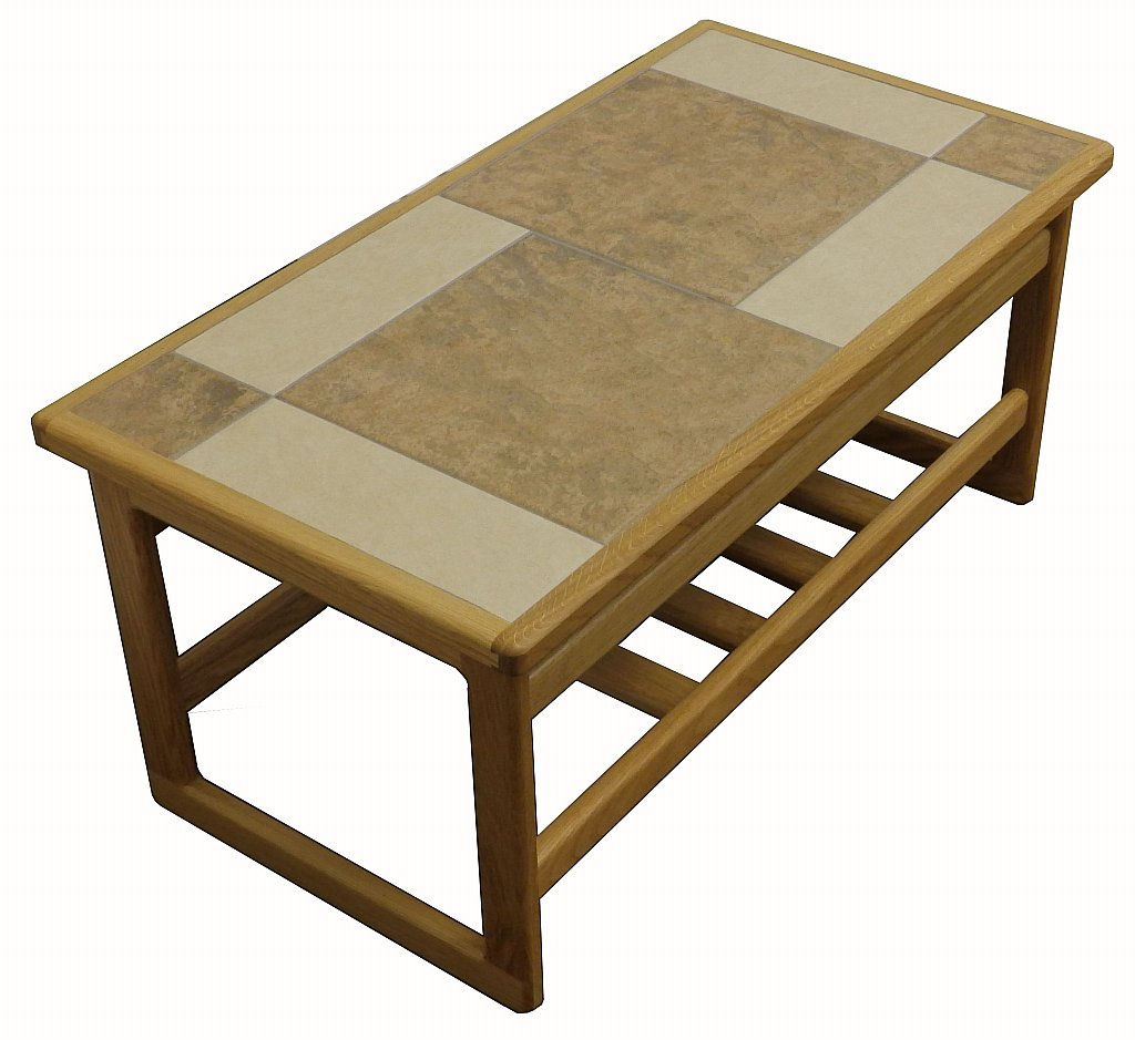 Anbercraft Mocha Tiled Top Small Coffee Table