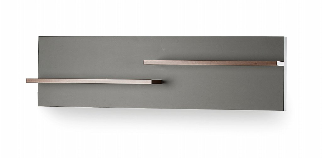 UK-CF - Fusion Open Shelf Unit in Walnut and Grey