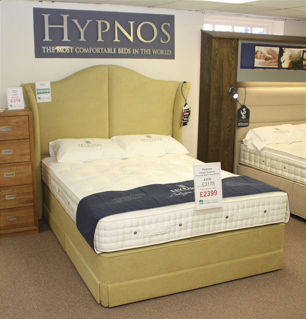 Hypnos - Adagio Supreme Kingsize Bed and Headboard