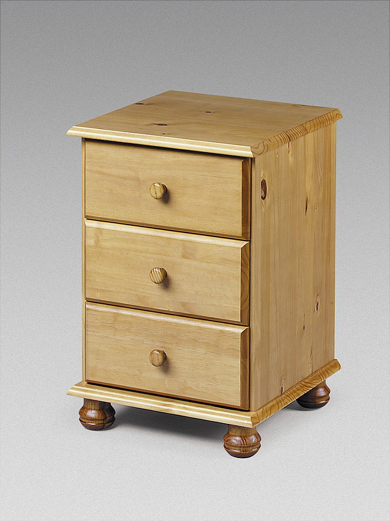 Julian Bowen - Pickwick 3 Drawer Bedside Cabinet