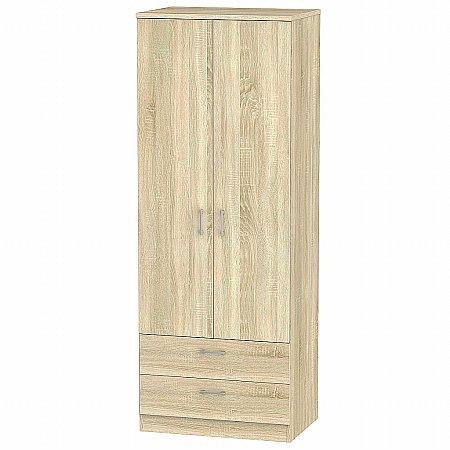 Sturtons - Stour Tall 2 Door 2 Drawer Wardrobe
