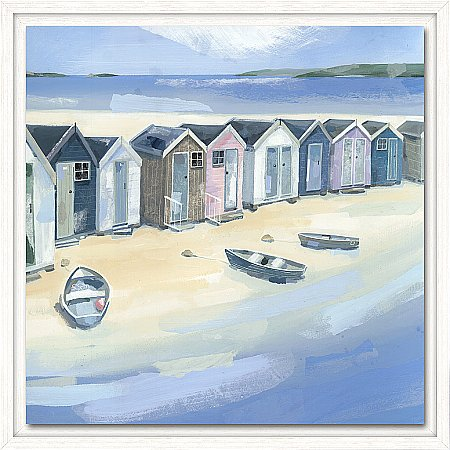 14358/Artko/Beach-Huts-and-Boats-I-Framed-Canvas