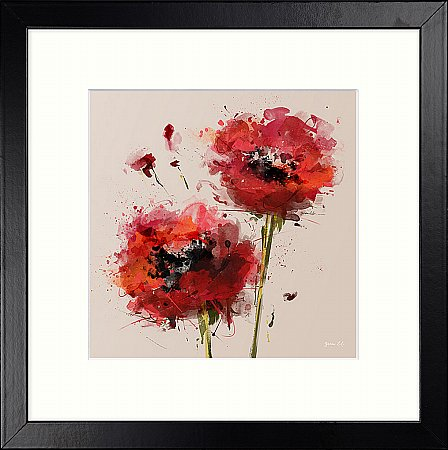 14461/Artko/Rosso-Burst-Detail-II-Framed-Picture