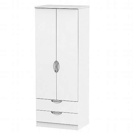 Sturtons - Hamble Tall 2ft 6in 2 Drawer Robe