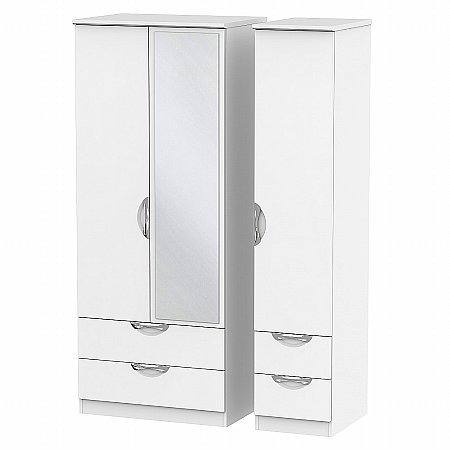 Sturtons - Hamble Triple 2 Drawer Mirror and Drawer Robe