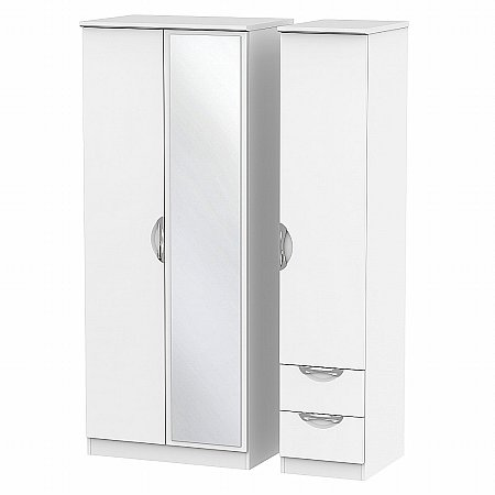 Sturtons - Hamble Triple Mirror and Drawer Robe