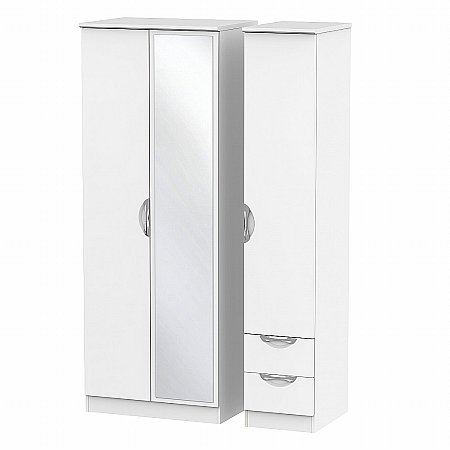Sturtons - Hamble Tall Triple Mirror and Drawer Robe
