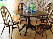 Chester Dining Set: Pedestal Dining Table and Quaker Dining Chairs Ref: 1191 - Small table Leng ...click for more