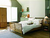 Windsor Bedroom: This bedroom furniture pieces are crafted from solid Elm with dovetail join ...click for more