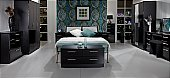 Knightsbridge Bedroom in Black: Available in 55 colour combinations.<br />Choice of 11 gloss -DOOR/DRAWER-  ...click for more