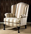 Queen Anne Occasional Chair: Designed to complement anyone of our settee designs. Equally stylish on the ...click for more