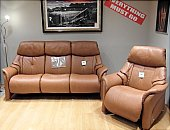 Himolla - Chester 3 seat sofa and large power recliner chair