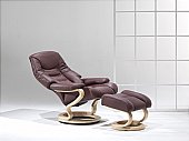 Zerostress The Corrib Recliner: Elegant curves combined with tailored lines ensure<br />both style and comf ...click for more