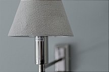 Neptune - Brunswick Wall Light and Natural Linen Shade