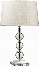 Neptune - Burlington Crystal Ball Lamp With Lucile Shades