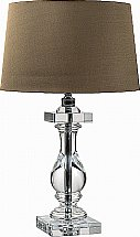 Neptune - Burlington Crystal Vase Lamp With Edward Shades