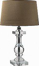 Neptune - Burlington Crystal Vase Lamp With Edward Shades