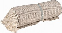 Neptune - Cotswold Herringbone Throw - Natural