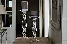 Neptune - Highbury Glass Candlesticks