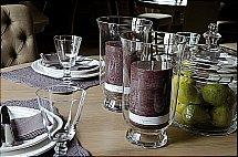 Neptune Kennington Glass Hurricane Lantern Vases