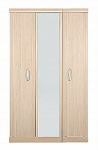 Vale Furnishers - Banbury Three Door Mirrored Wardrobe
