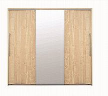 Vale Furnishers - Banbury Three Door Sliding Mirrored Wardrobe