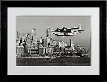 Neptune - Whitechapel Flying Boat Over Manhattan - 87cm X 67cm