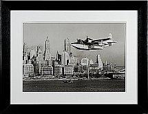 Neptune - Whitechapel Flying Boat Over Manhattan - 87cm X 67cm