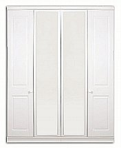 Vale Furnishers - Regatta Four Door Mirrored Wardrobe
