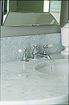 Neptune - Neptune White Lever 3 Hole Sink Tap With Puw