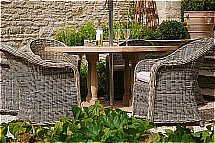 Neptune Bordeaux 150cm Table With Pesaro Chairs