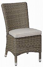 Neptune - Cadiz Dining Chair With Natural Cushion - Textured Weave