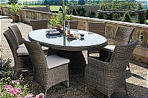 Neptune - Cadiz 260x110cm Oval Table and Chairs