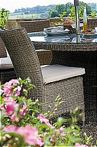 Neptune Cadiz Dining Chair With Natural Cushion - Textured Weave