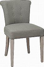 Neptune - Calverston Linen Dining Chair - Aqua Grey