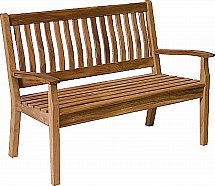 Neptune - Canterbury Wave Back 4Ft Bench - Teak