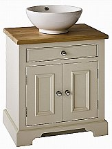 Neptune - Chichester 640mm Oak Countertop Washstand