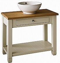 Neptune - Chichester 850mm Oak Countertop Washstand