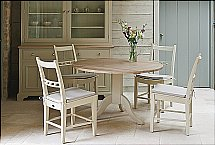 Neptune - Chichester Pedestal Oak Table + Chairs