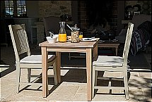 Neptune - Harrogate Dining Chair - Honed Slate and Table