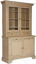 Neptune - Henley 4Ft Glazed Rack Oak Dresser