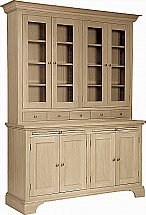 Neptune - Henley 5Ft Glazed Rack Oak Dresser