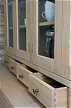 Neptune Henley 5Ft Glazed Rack Oak Dresser