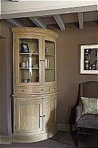 Neptune Henley Curved Glazed Rack Oak Dresser