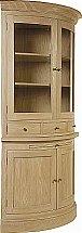 Neptune - Henley Curved Glazed Rack Oak Dresser