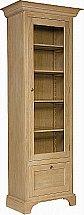 Neptune - Henley Narrow Full Height Glazed Oak Cabinet
