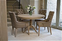 Neptune - Henley Upholstered Linen Dining Chair - Table