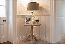 Neptune - Henley 60cm Pedestal Oak Side Table