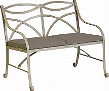 Neptune - Montpellier 2 Seater Bench With Warm Slate Cushions