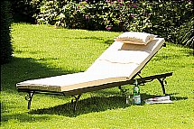 Neptune - Provence Sunlounger With Natural Cushion